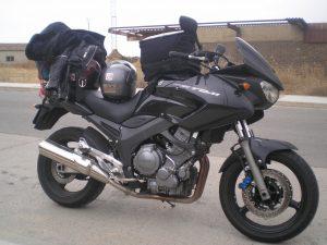 La que nos llevó en nuestro primer viaje en moto por carretera