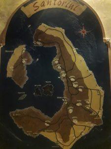 Mapa del archipiélago de Santorini